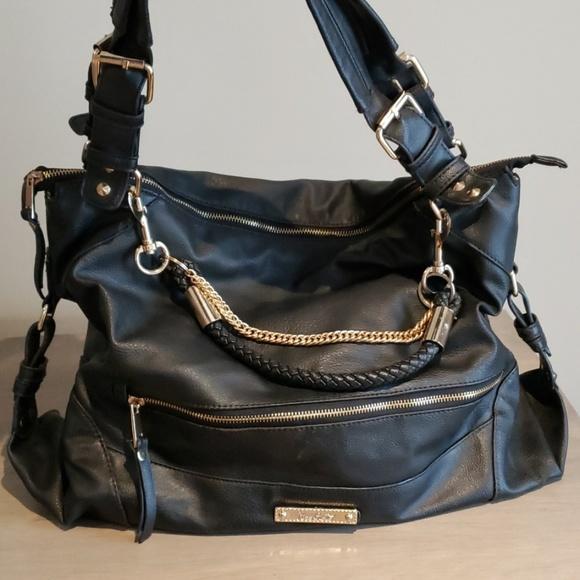 miss gusttas Handbags - Black and gold shoulder bag
